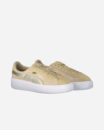 Scarpe sneakers PUMA SUEDE PLAT. METALLIC SAFARI W