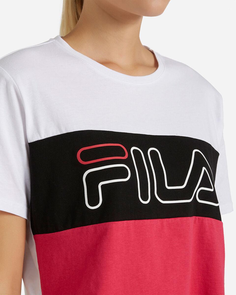 T-Shirt FILA CROP COLOR BLOCK W S4080528 scatto 4