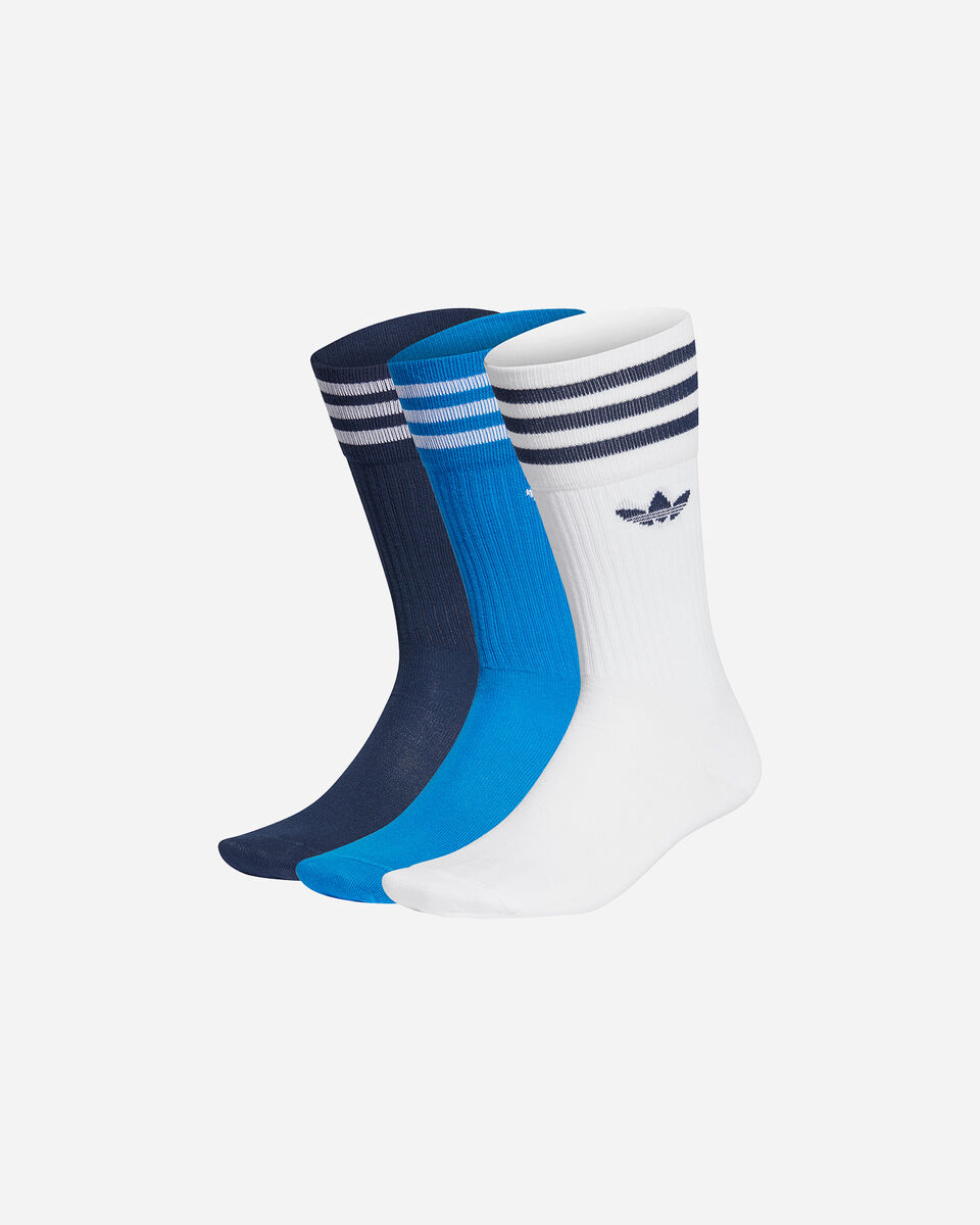 Calze ADIDAS SOLID CREW 3 PACK M S5210474 scatto 0