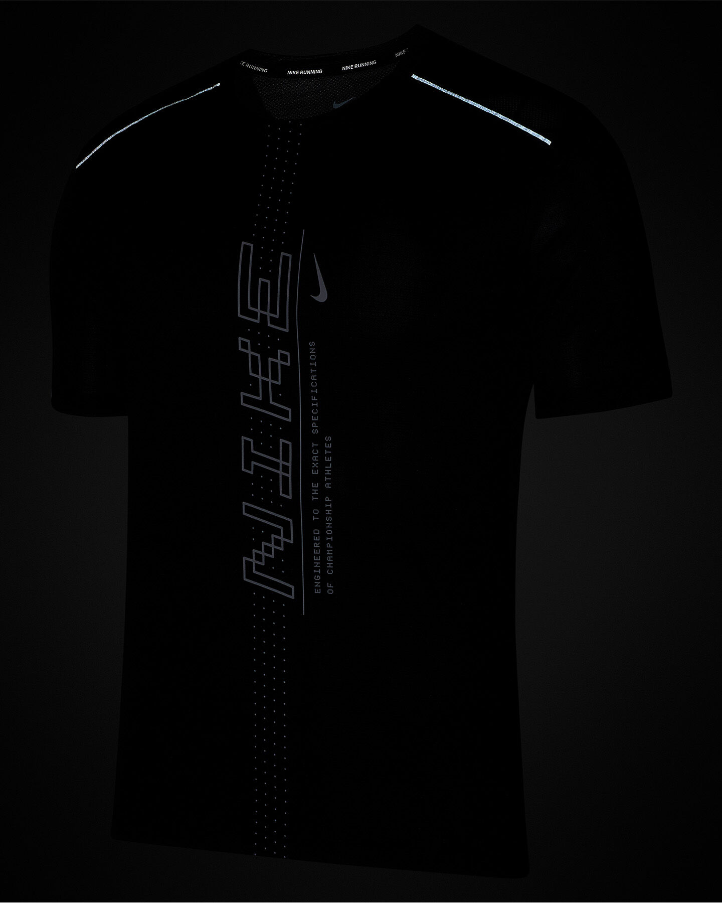 T-Shirt running NIKE DRI-FIT MILER M S5164396 scatto 3