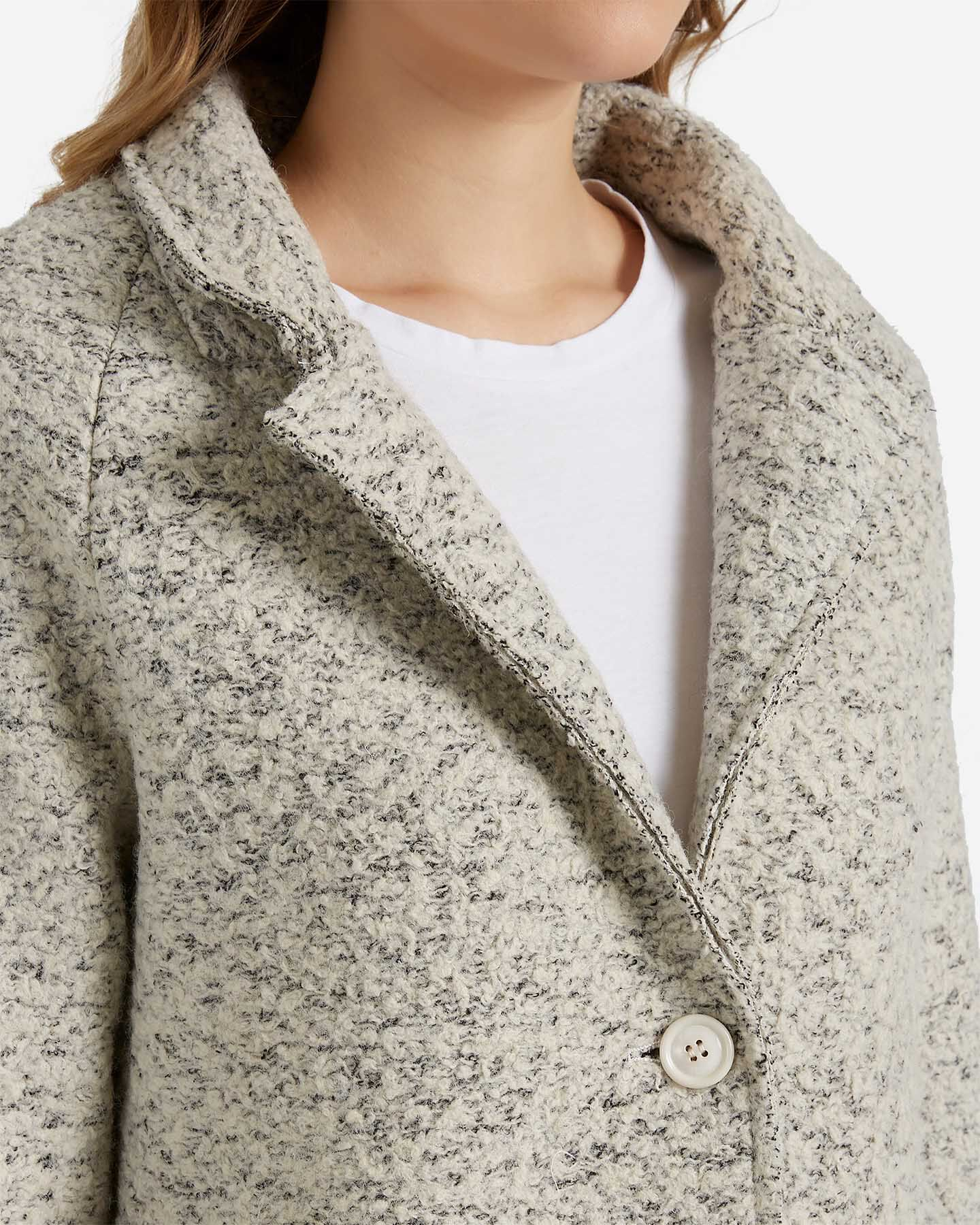 Giacca ESSENZA BOUCLE' BEIGE W S4083455 scatto 4