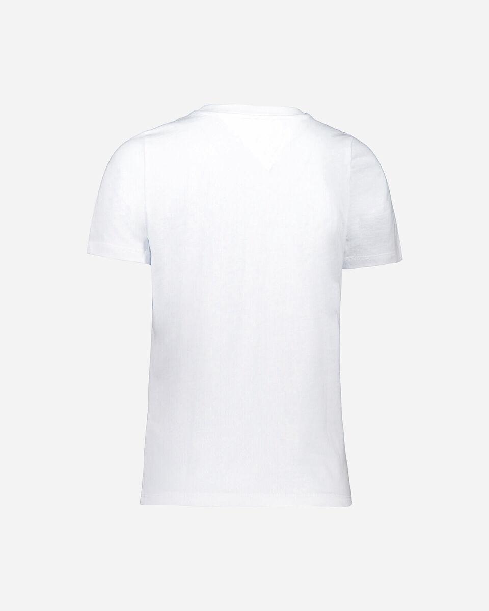T-Shirt TOMMY HILFIGER MC REGULAR FIT LOGO W S4082502 scatto 1
