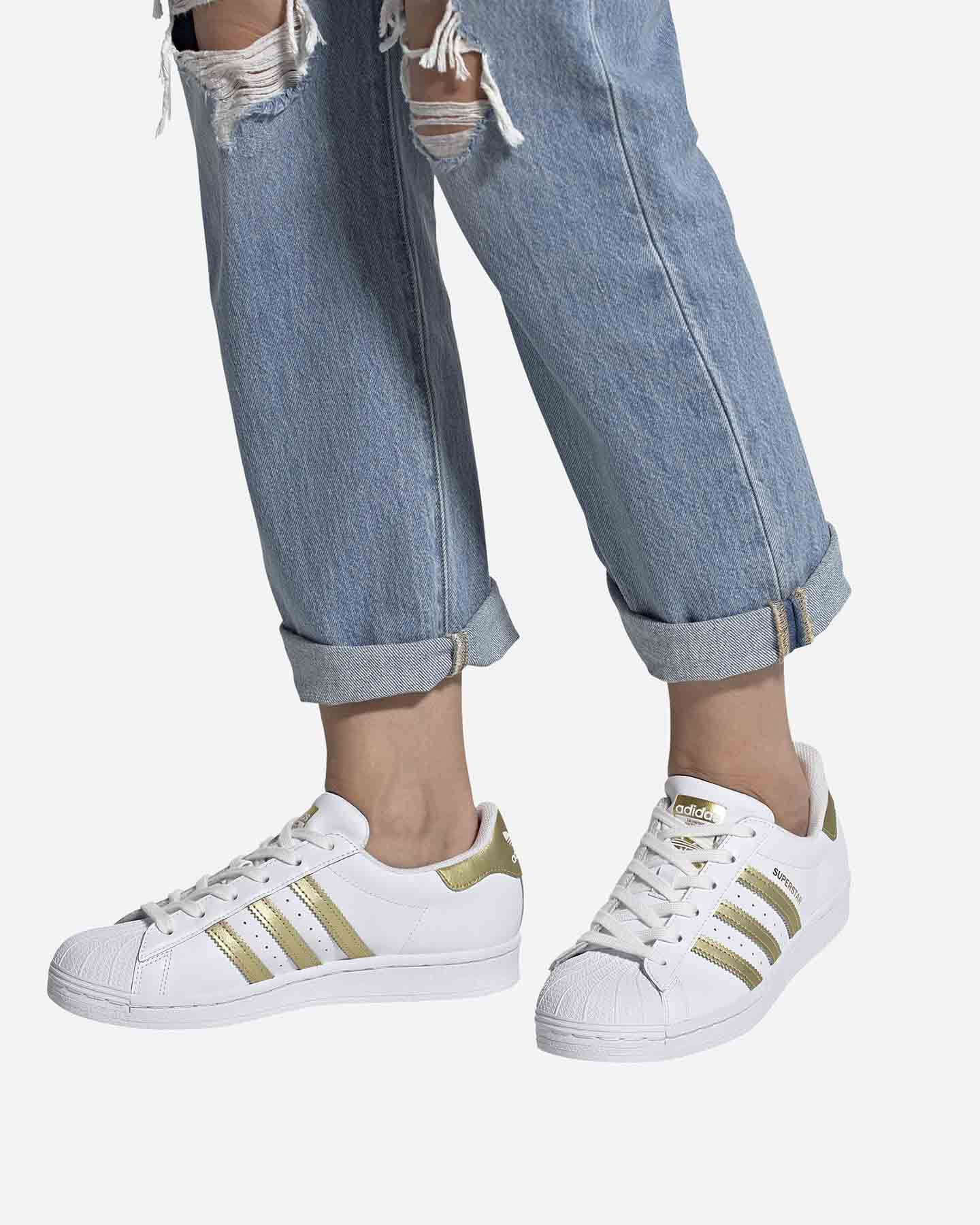 Scarpe sneakers ADIDAS SUPERSTAR W S5209807 scatto 5