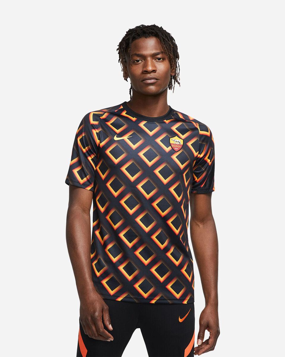 Abbigliamento calcio NIKE AS ROMA PREMATCH 20-21 M S5195542 scatto 2