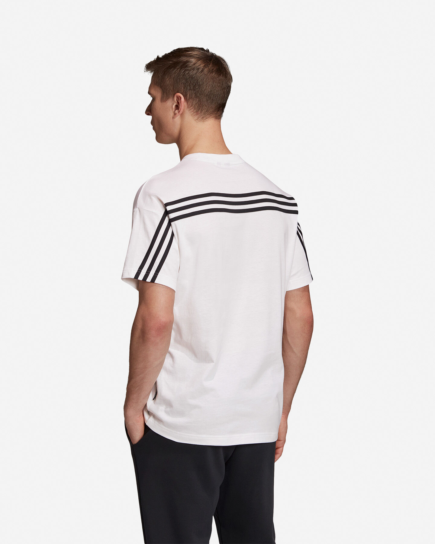 T-Shirt ADIDAS MUST HAVE 3 STRIPES M S5216653 scatto 4