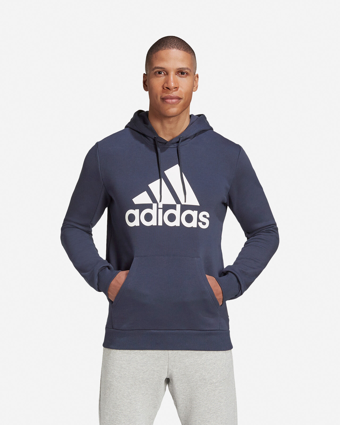 Felpa ADIDAS BADGE OF SPORT FRENCH TERRY HOODIE M S5219260 scatto 2