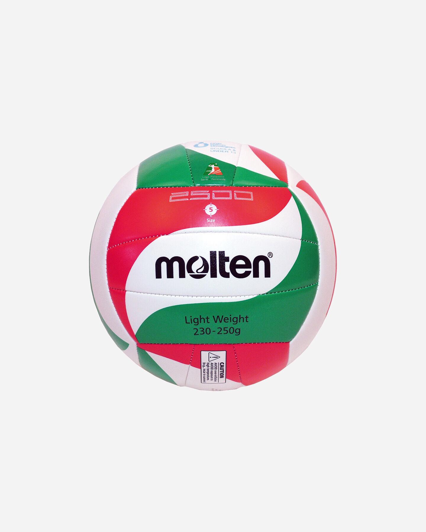 Pallone volley MOLTEN 2500 VOLLEY SCHOOL MIS.5 S1181810 1 5 scatto 0