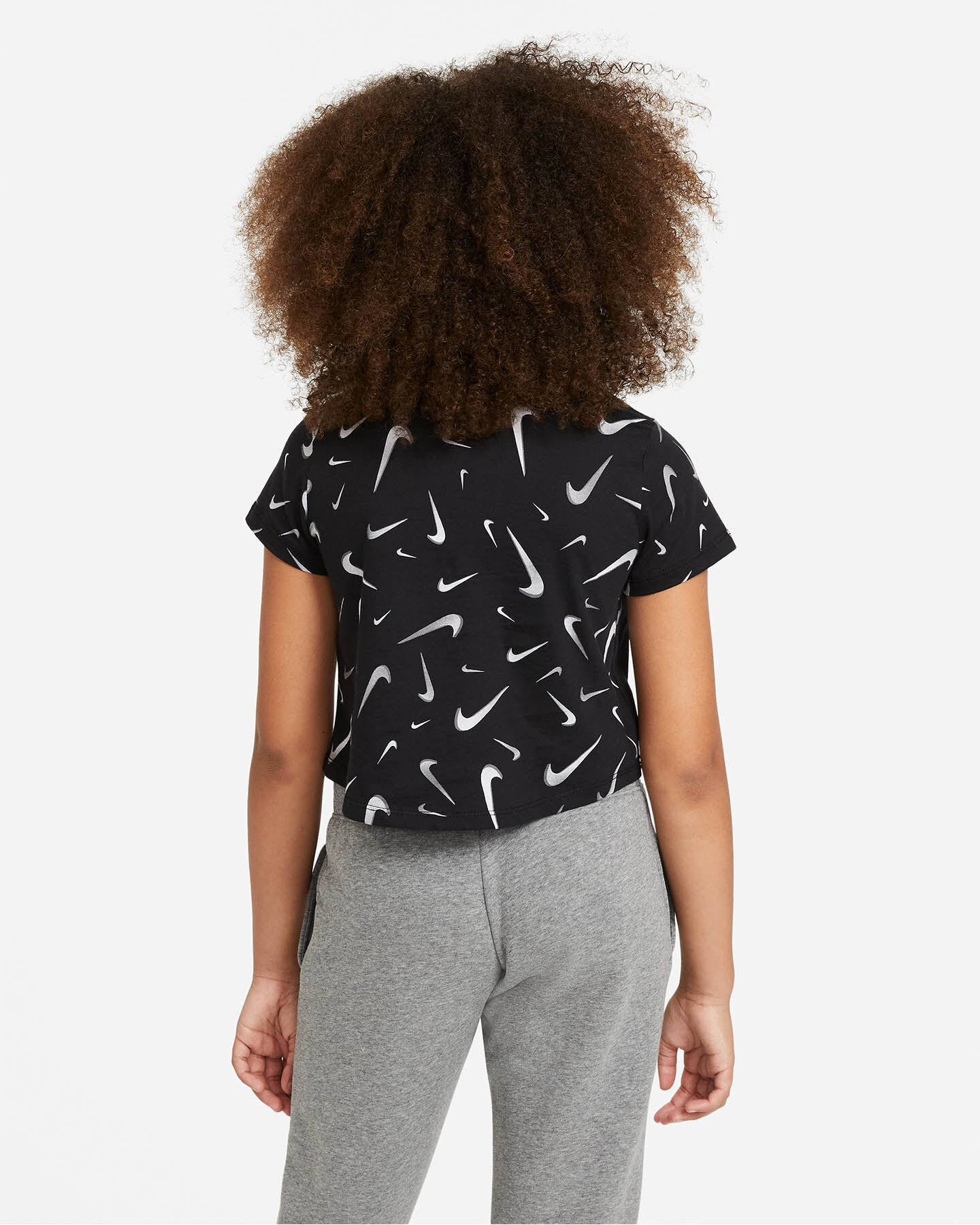 T-Shirt NIKE CROP SWOOSH JR S5270246 scatto 1