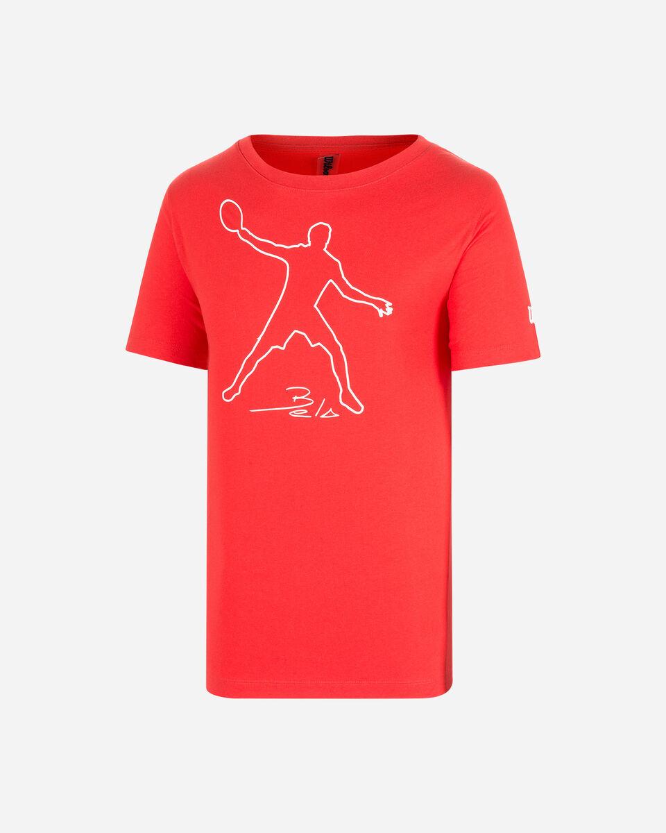 T-Shirt tennis WILSON T-SHIRT WILSON MBELA TECH RED M S5294969 scatto 0