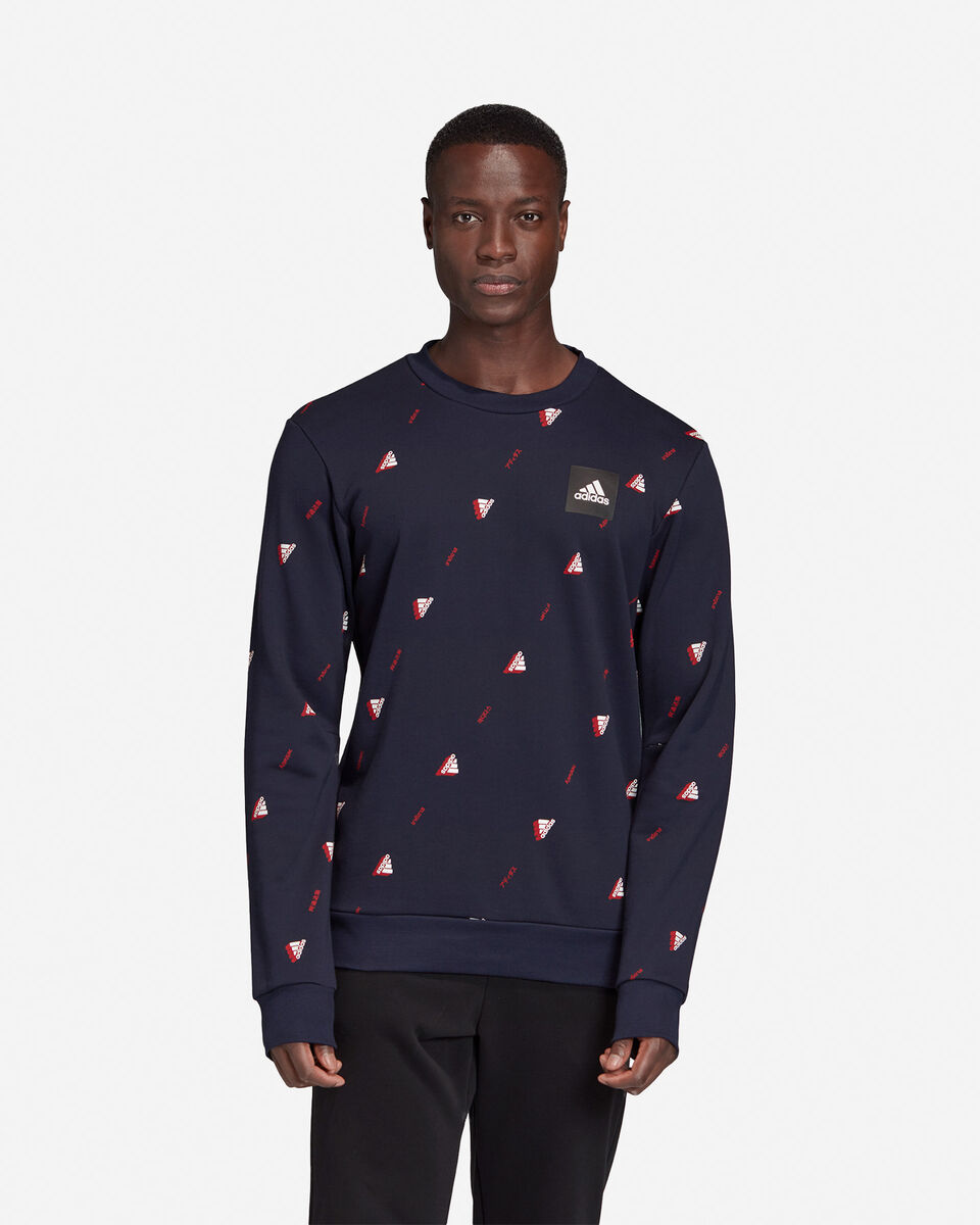 Felpa ADIDAS MUST HAVES GRAPHIC CREW M S5153856 scatto 2