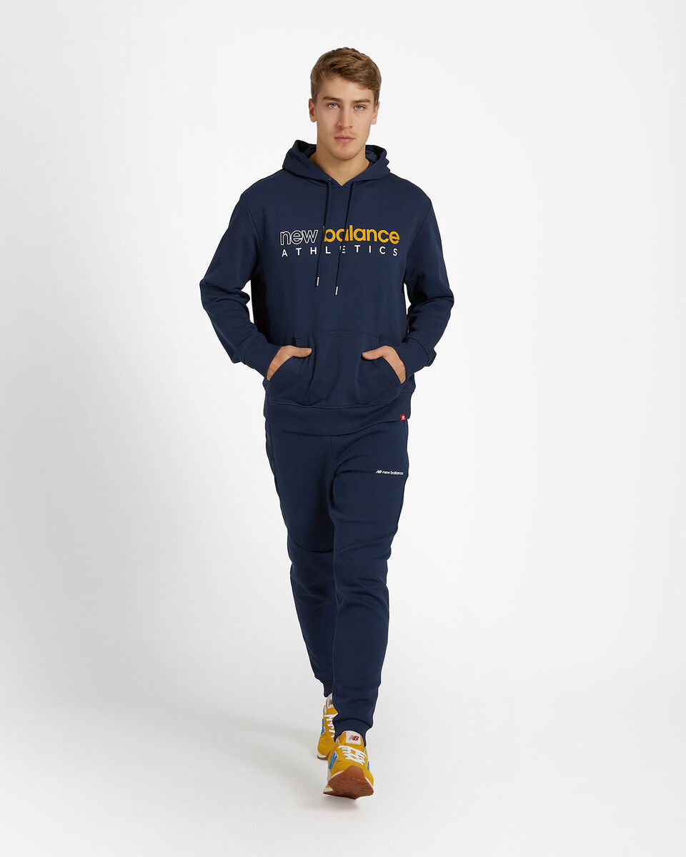Felpa NEW BALANCE ICON HOODIE M S5166320 scatto 3