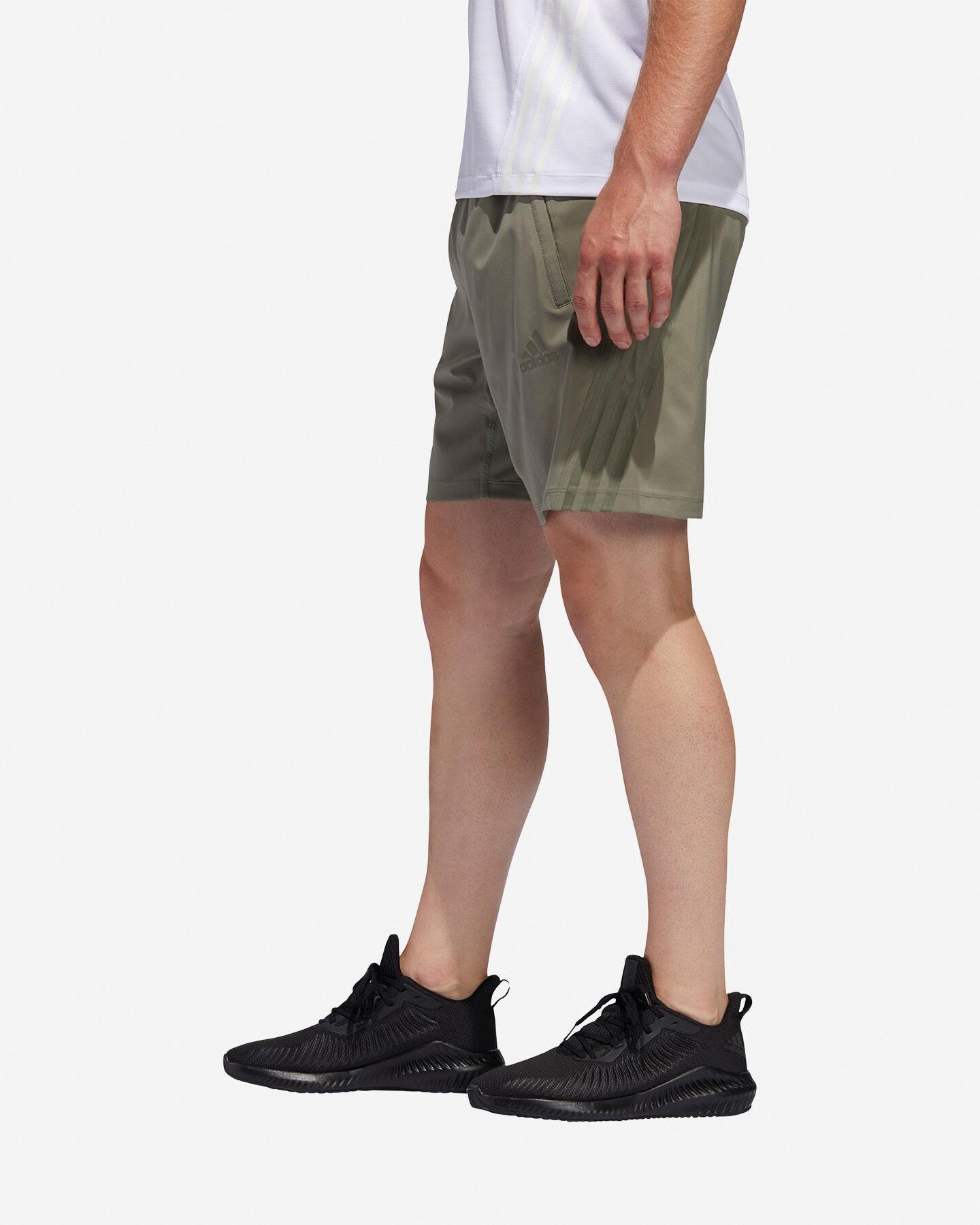 Pantalone training ADIDAS AEROREADY 3-STRIPES 8-INCH M S5154649 scatto 3
