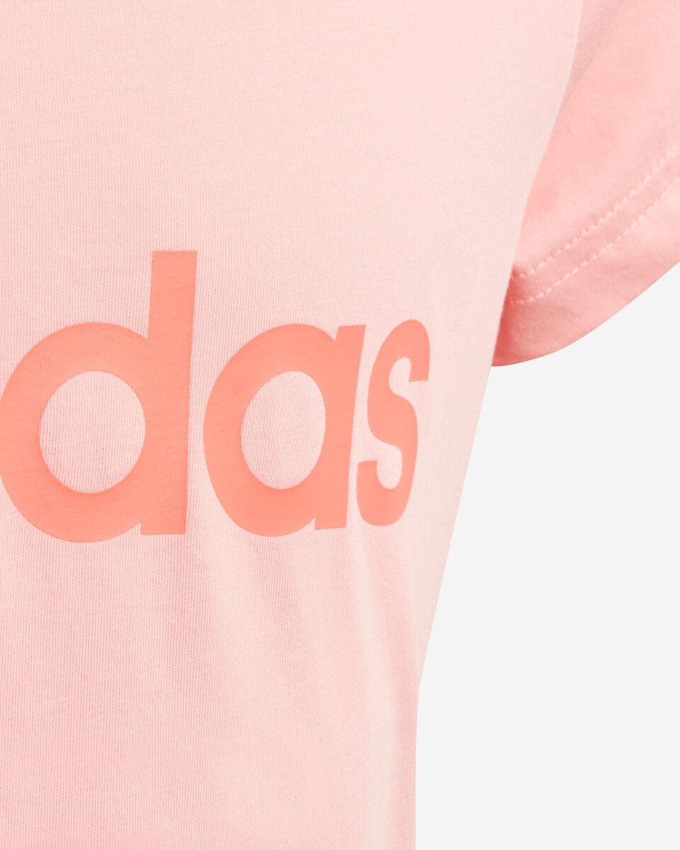 T-Shirt ADIDAS ESSENTIALS LINEAR JR S5211409 scatto 3