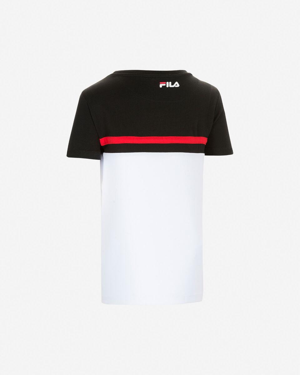 T-Shirt FILA COLOR BLOCK JR S4081461 scatto 1