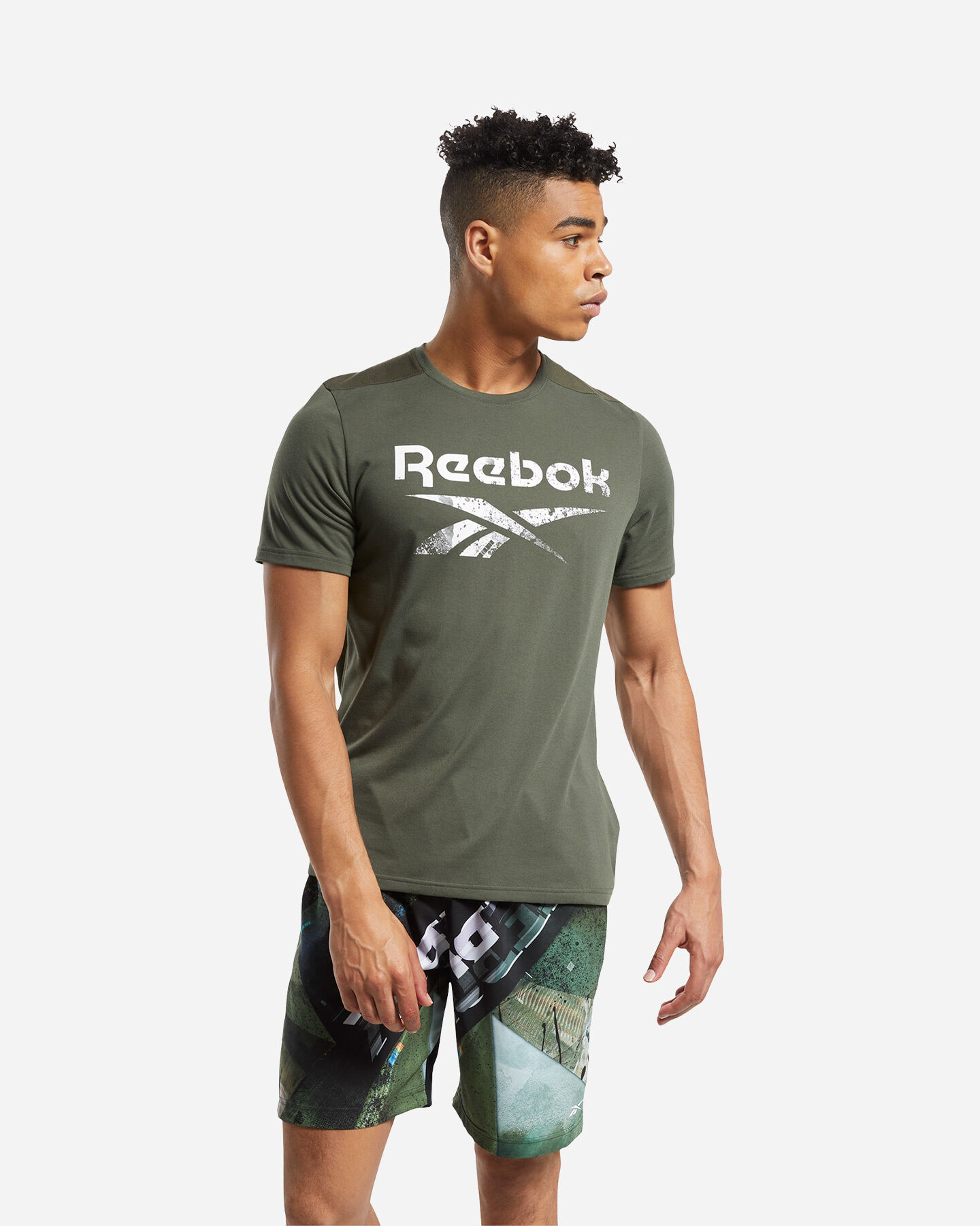 T-Shirt training REEBOK ACTRON LOGO M S5219457 scatto 2