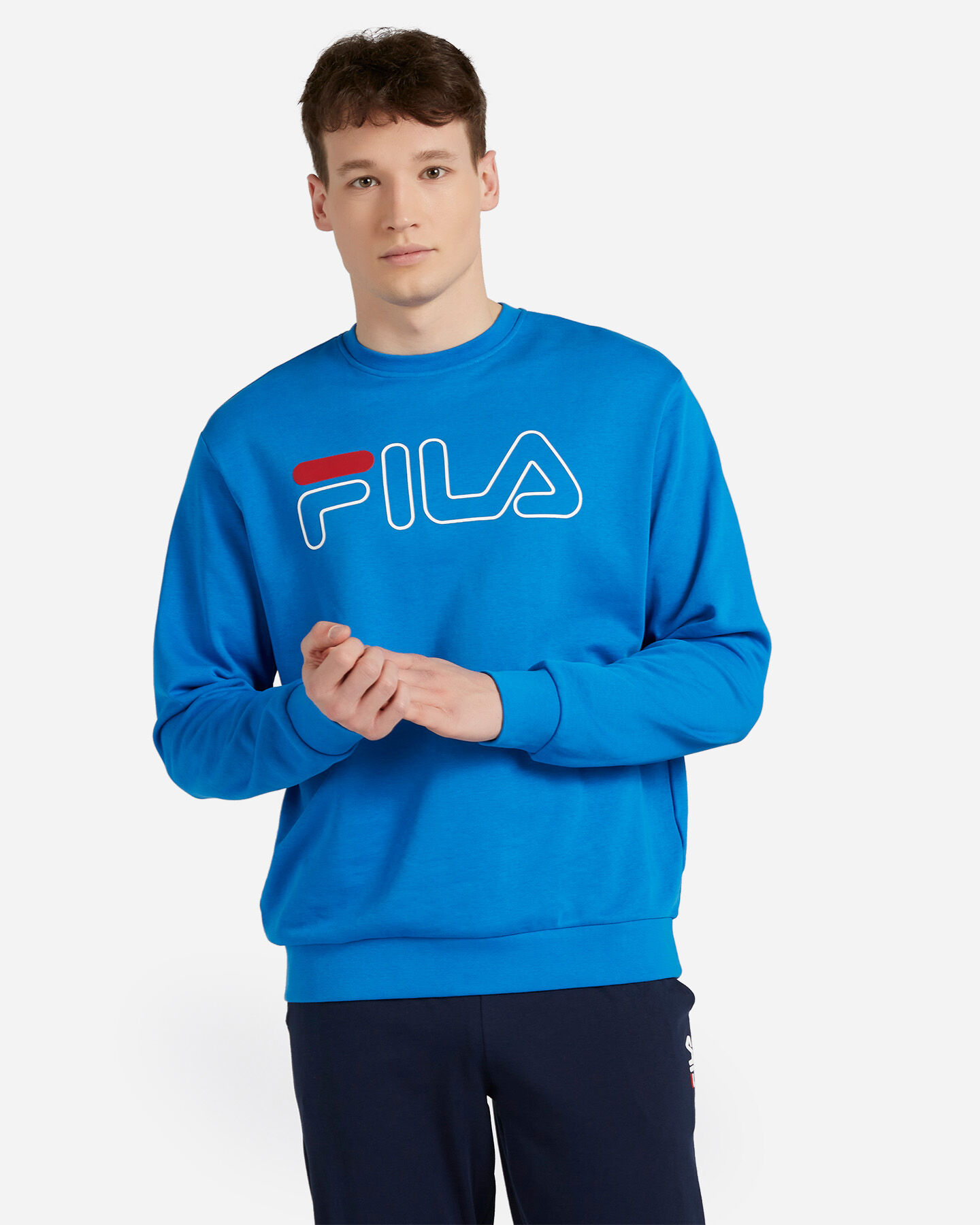 Felpa FILA FNG CREW BIG LOGO M S4075645 scatto 0
