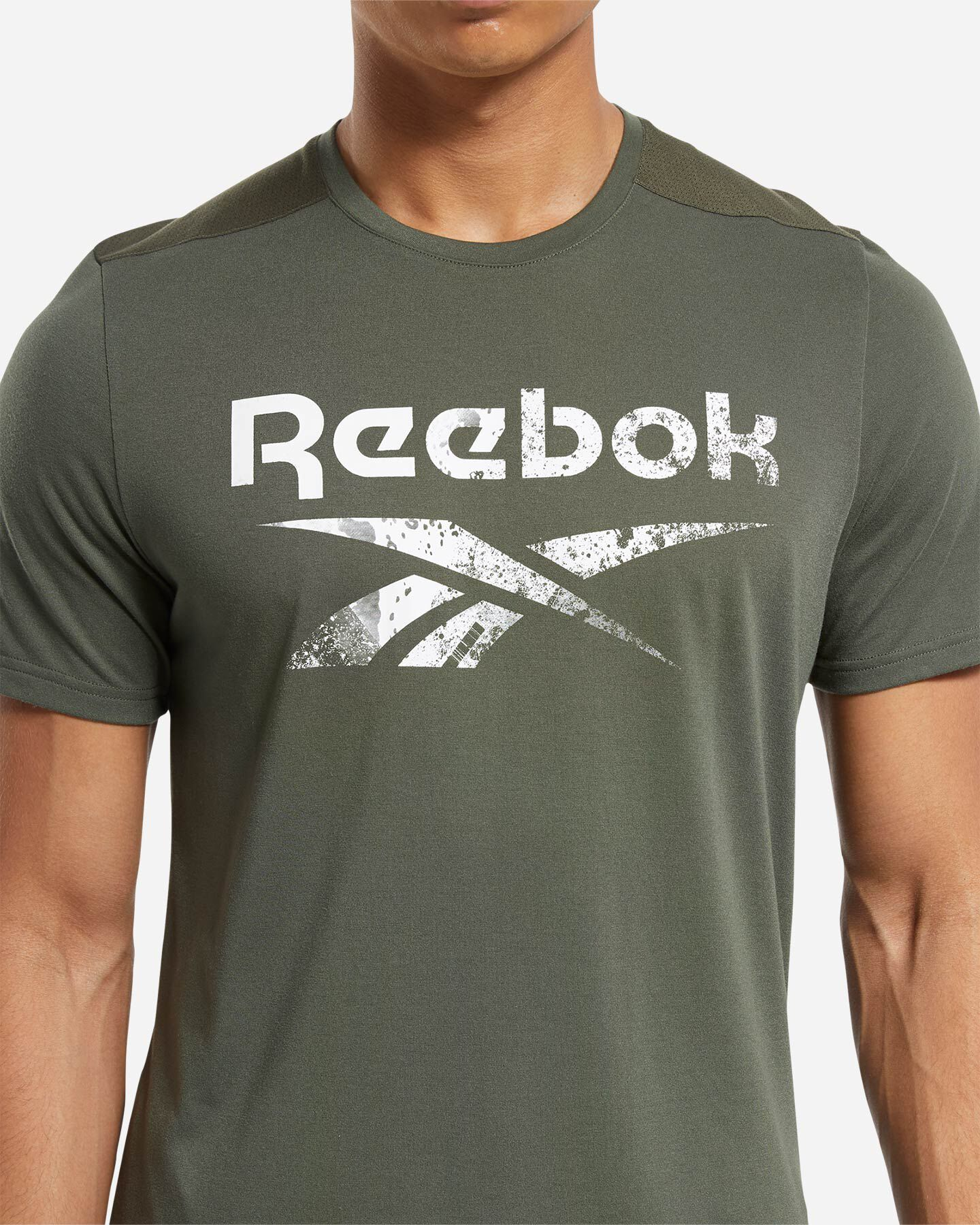 T-Shirt training REEBOK ACTRON LOGO M S5219457 scatto 4