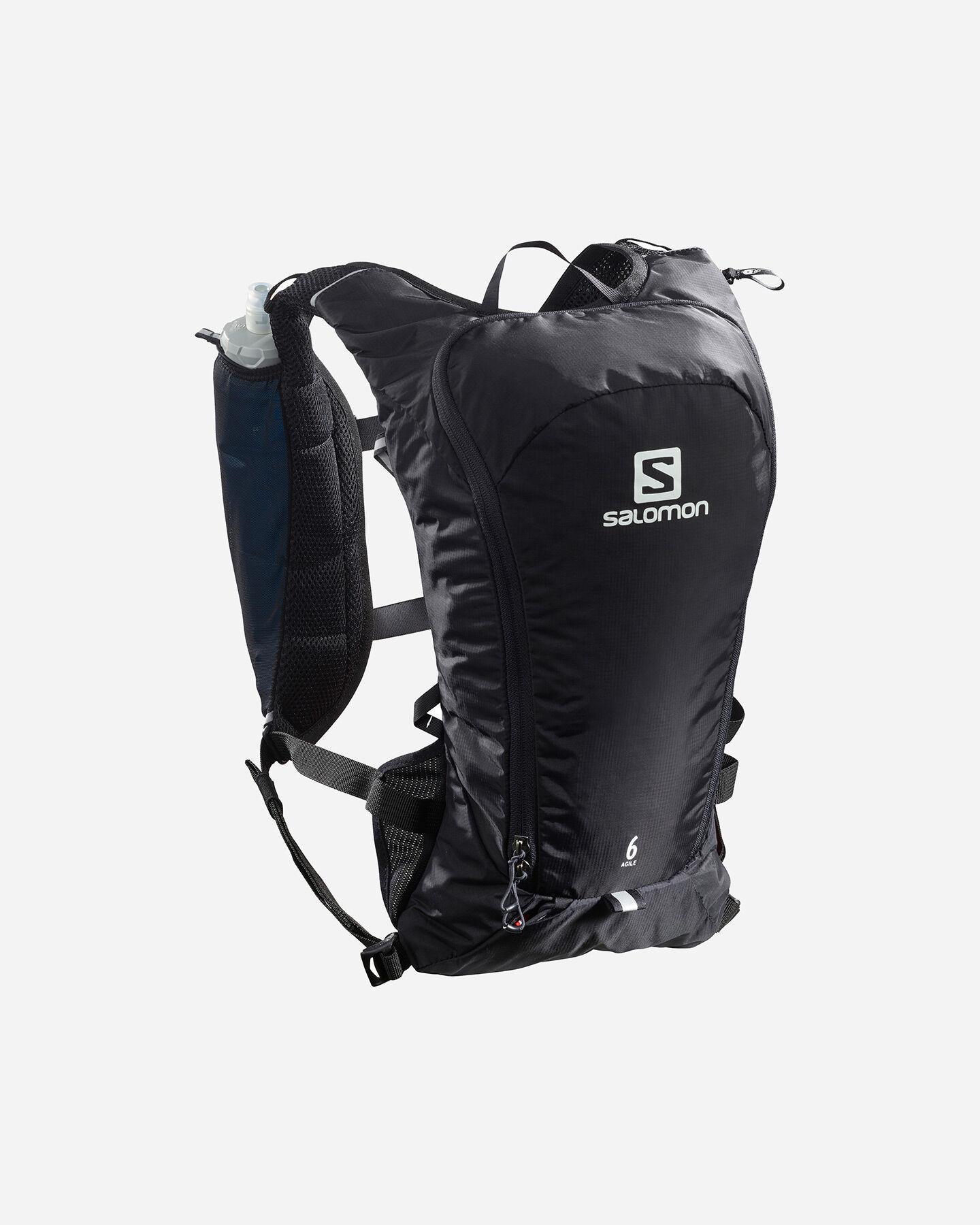 Zaino trail running SALOMON AGILE 6 SET+FLASK S5191246|UNI|NS scatto 0