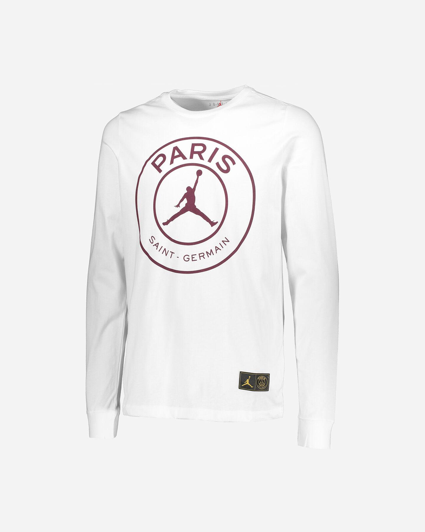 T-Shirt NIKE JORDAN PSG LS M S5227872 scatto 0
