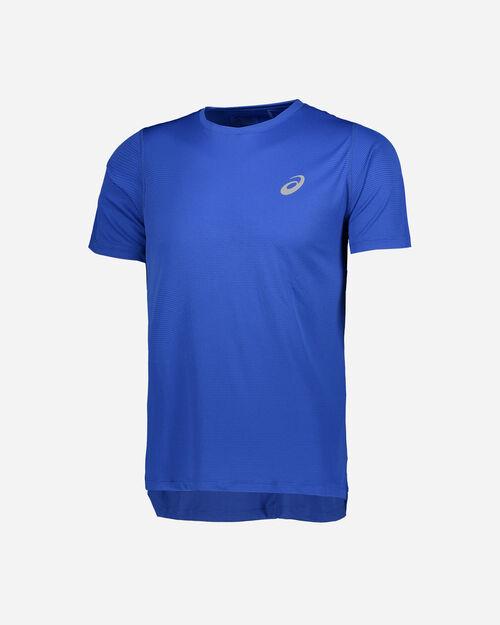T-Shirt running ASICS SILVER M