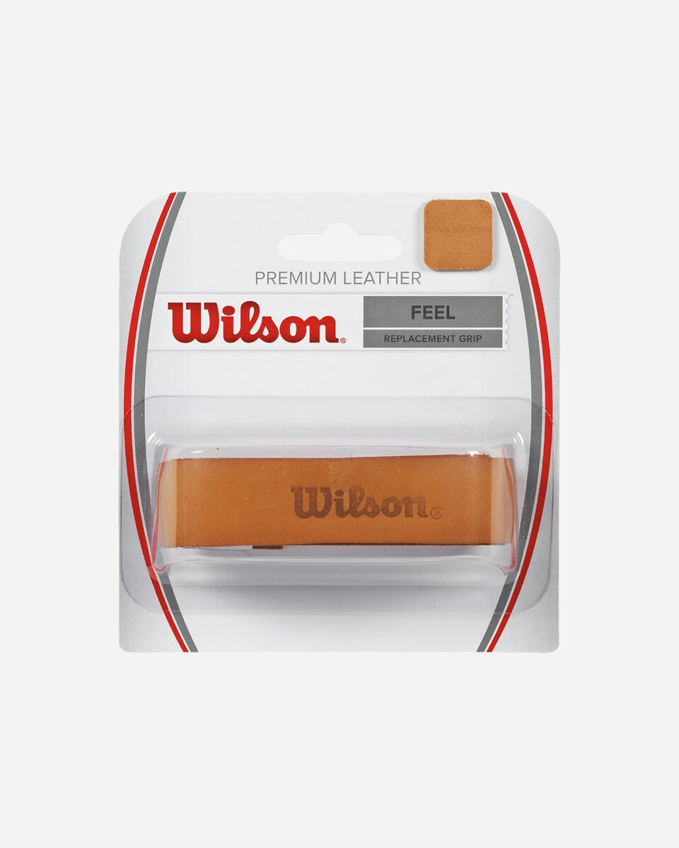 Grip tennis WILSON LEATHER GRIP NATURAL S4046157 1 UNI scatto 0