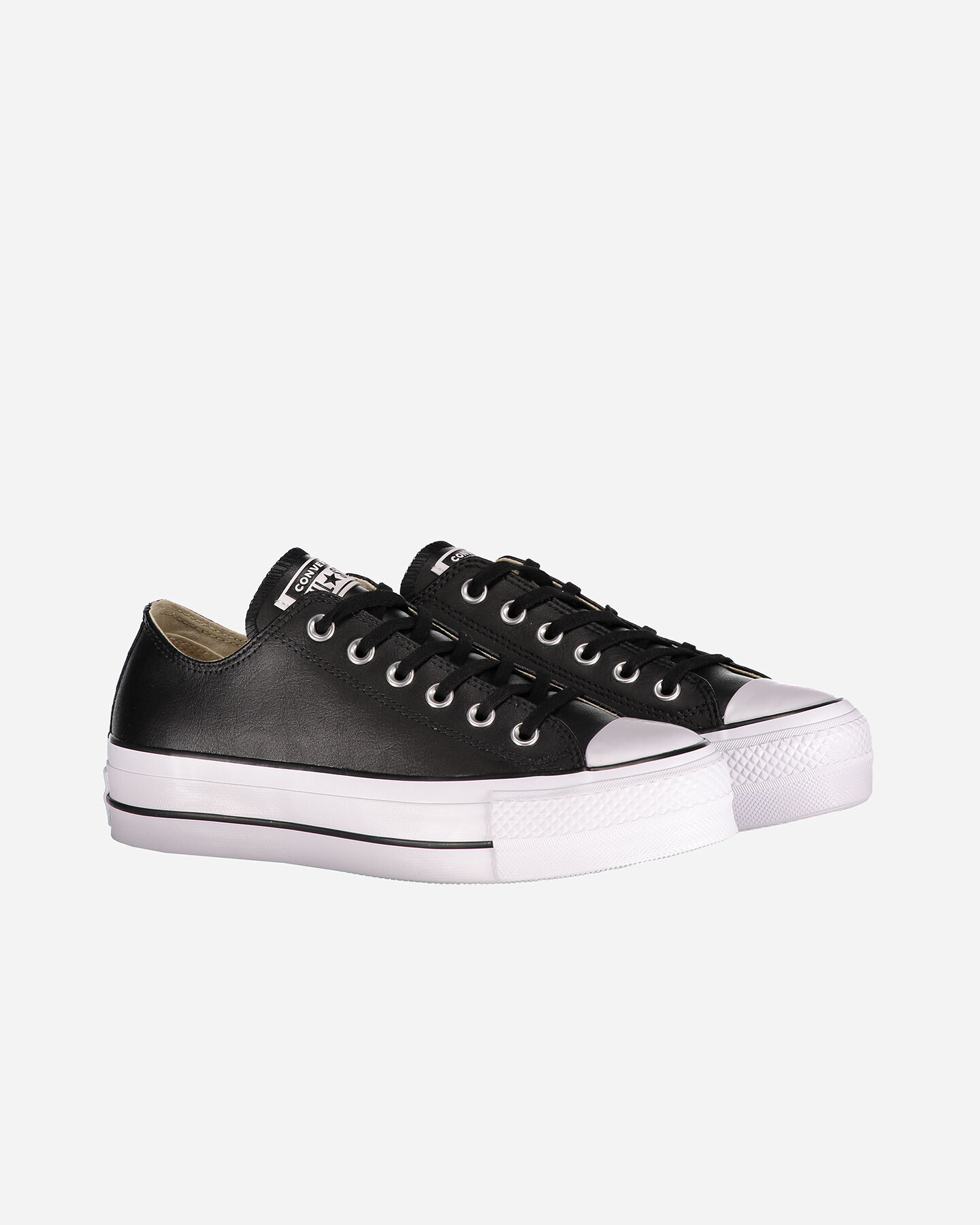 Scarpe sneakers CONVERSE ALL STAR PLATFORM LEATHER OX W S4051914 scatto 1