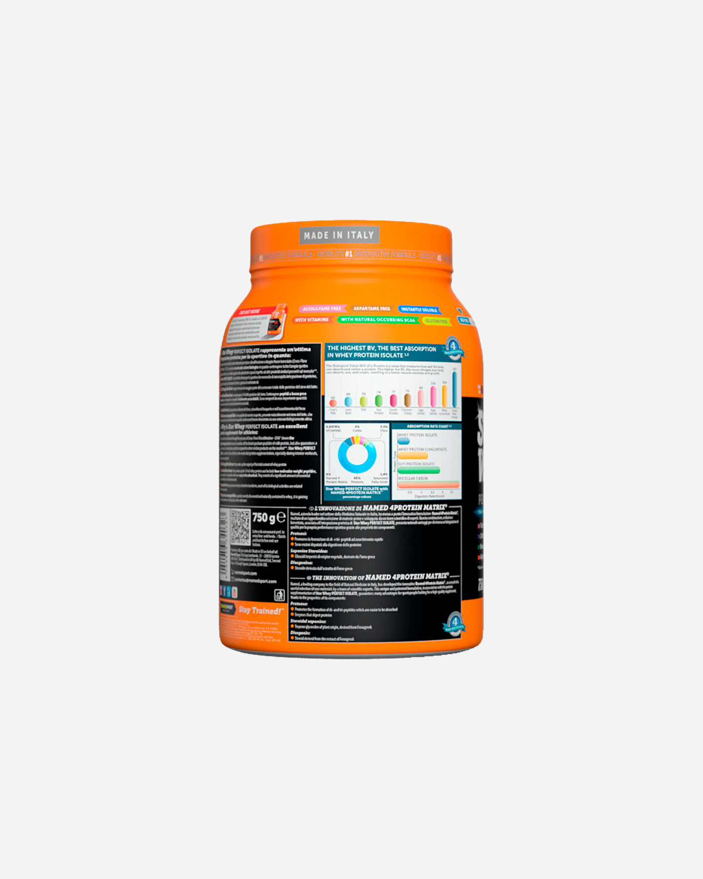 Energetico NAMED SPORT STAR WHEY ISOLATE 750G S1308868 scatto 1