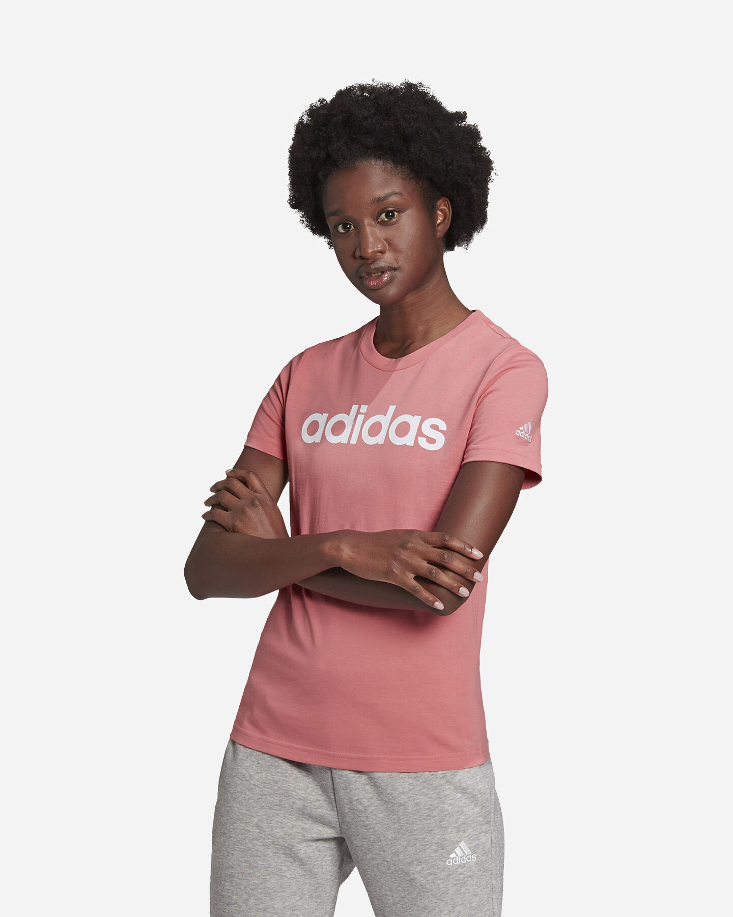 T-Shirt ADIDAS LINEAR W S5273057 scatto 1