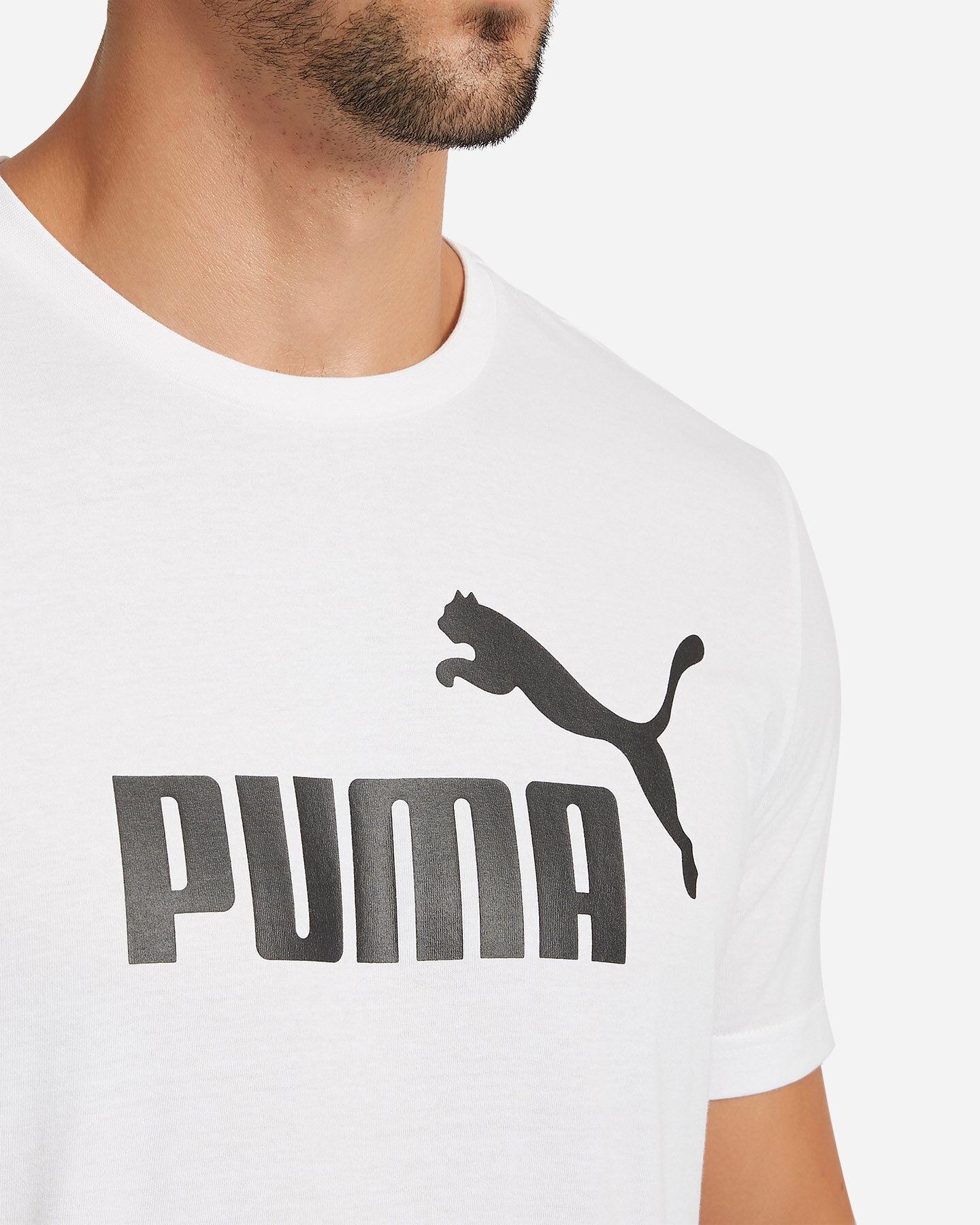 T-Shirt PUMA ESSENTIALS LOGO BASIC TEE M S4051516 scatto 4