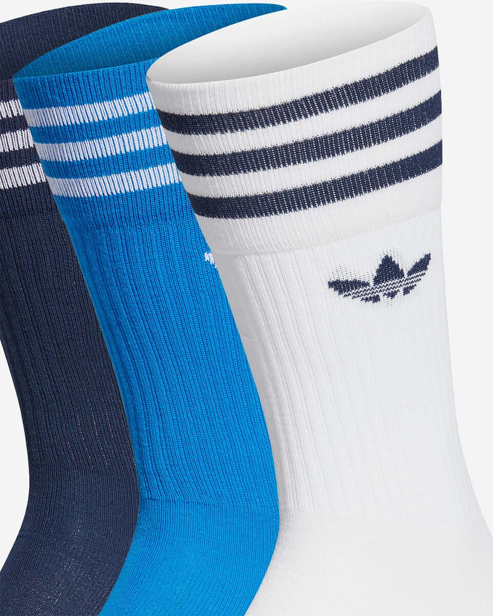 Calze ADIDAS SOLID CREW 3 PACK M S5210474 scatto 1