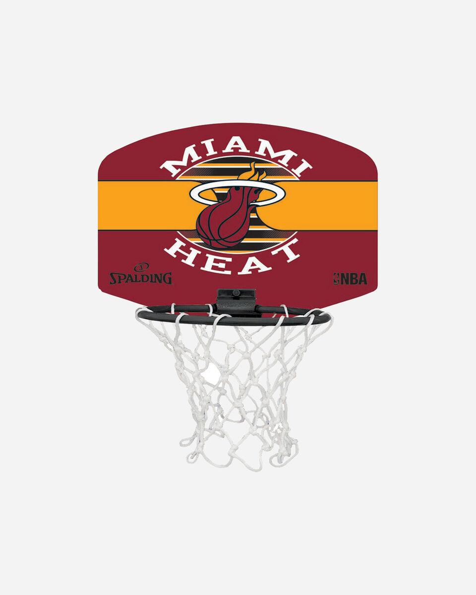 Canestro tabellone basket SPALDING NBA MINIBOARD MIAMI HEAT S1317875|9999|UNI scatto 1