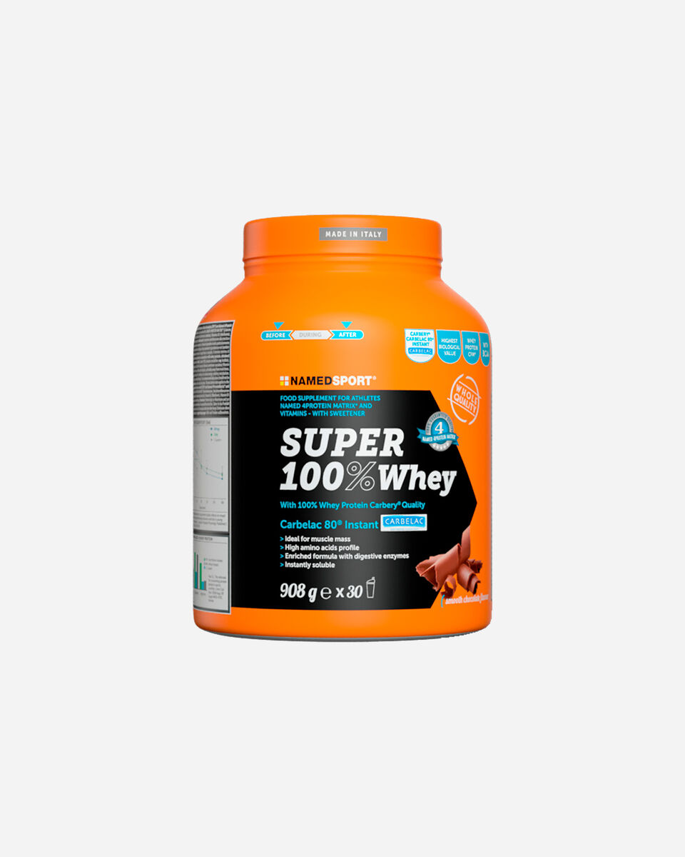 Energetico NAMED SPORT SUPER 100% WHEY SMOOTH CHOCOLATE 908G S1308870 scatto 0