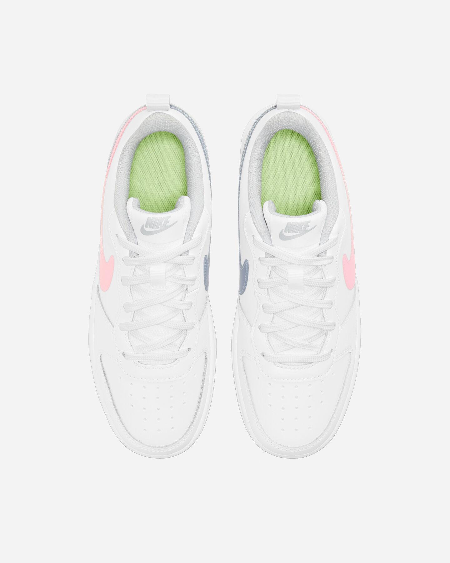 Scarpe sneakers NIKE COURT BOROUGH LOW 2 GS JR S5268507 scatto 3