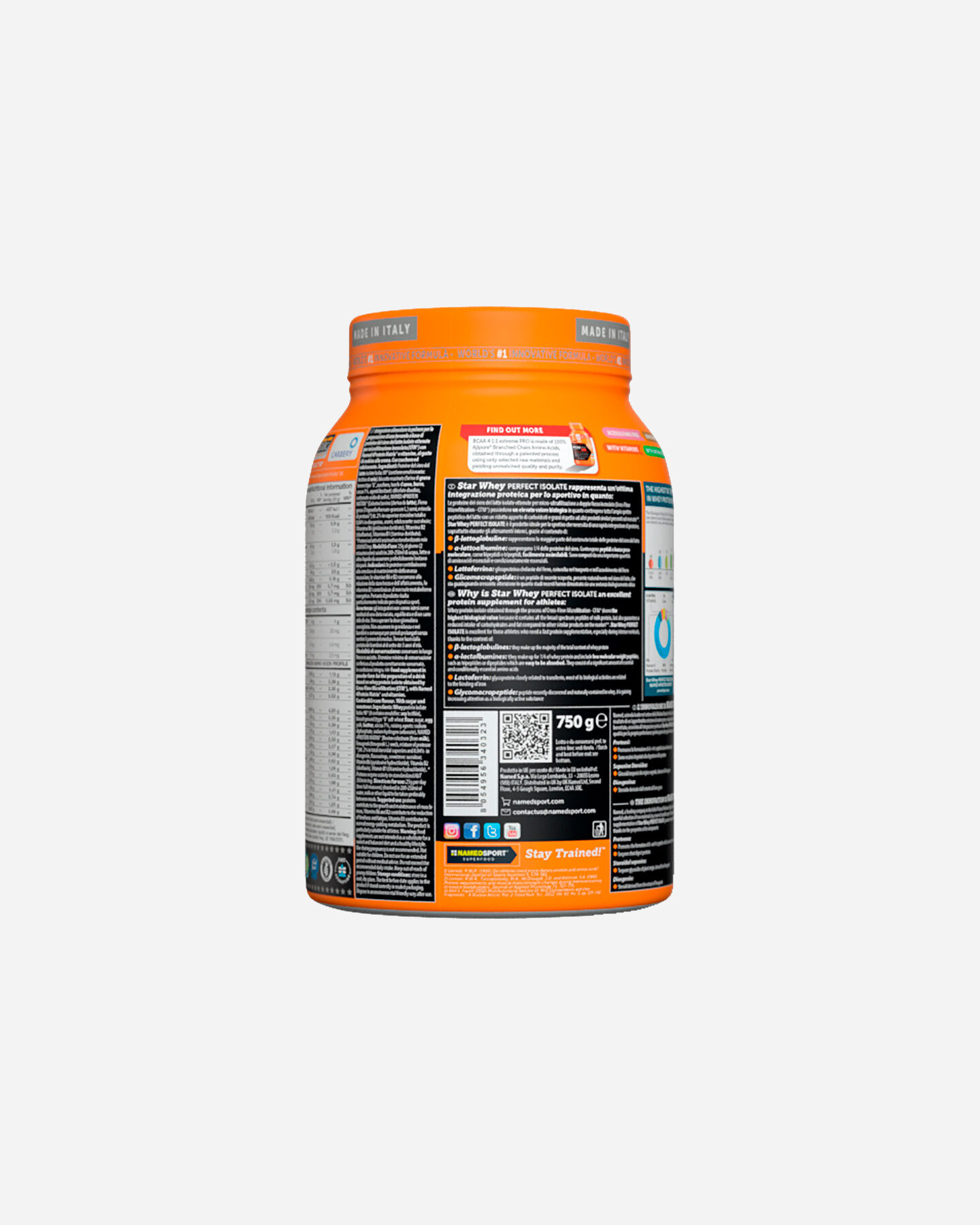 Energetico NAMED SPORT STAR WHEY ISOLATE SUBLIME CHOCOLATE 750G S1308868 scatto 2