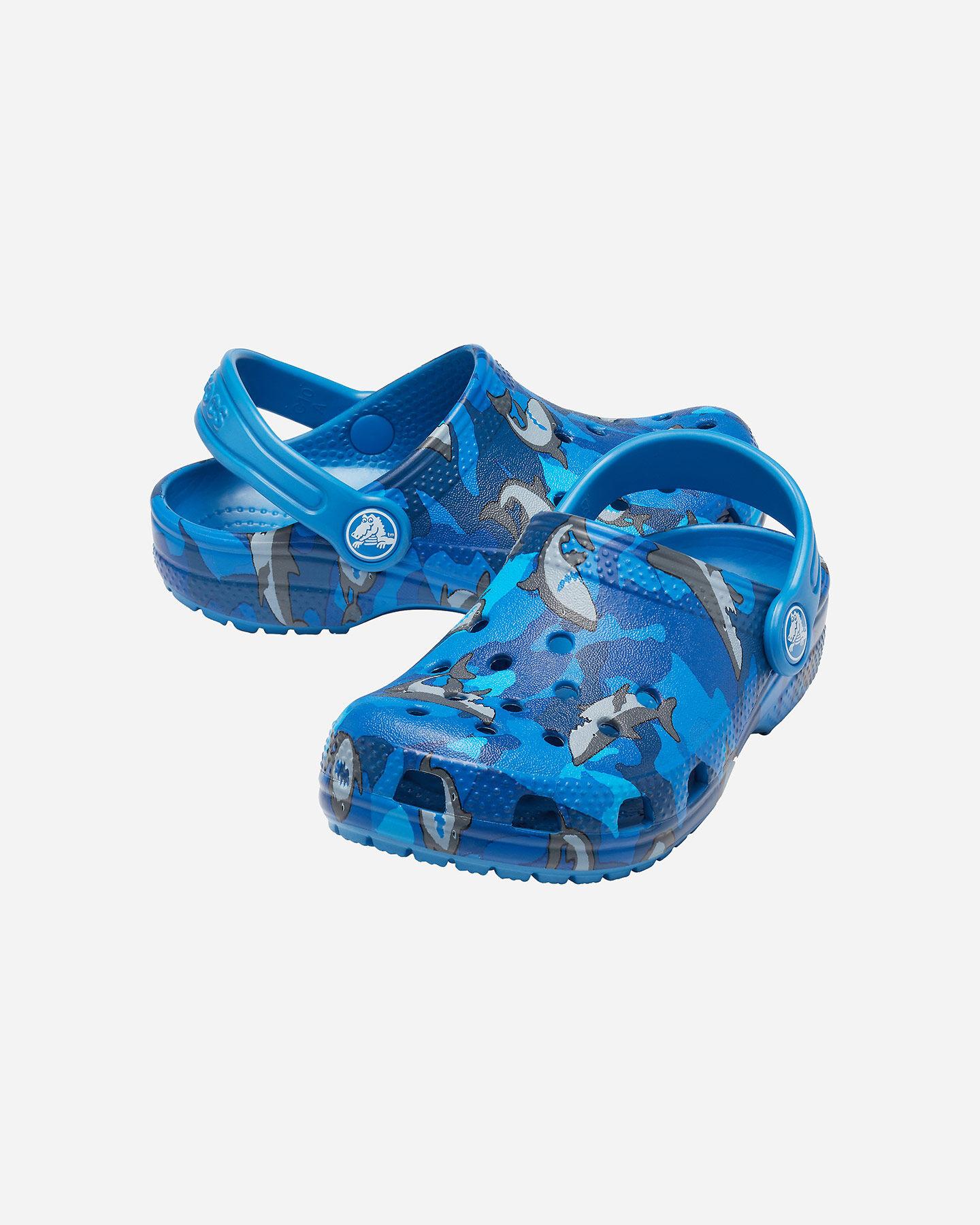 Sandali CROCS CLASSIC CLOG SHARK JR S4095180 scatto 1