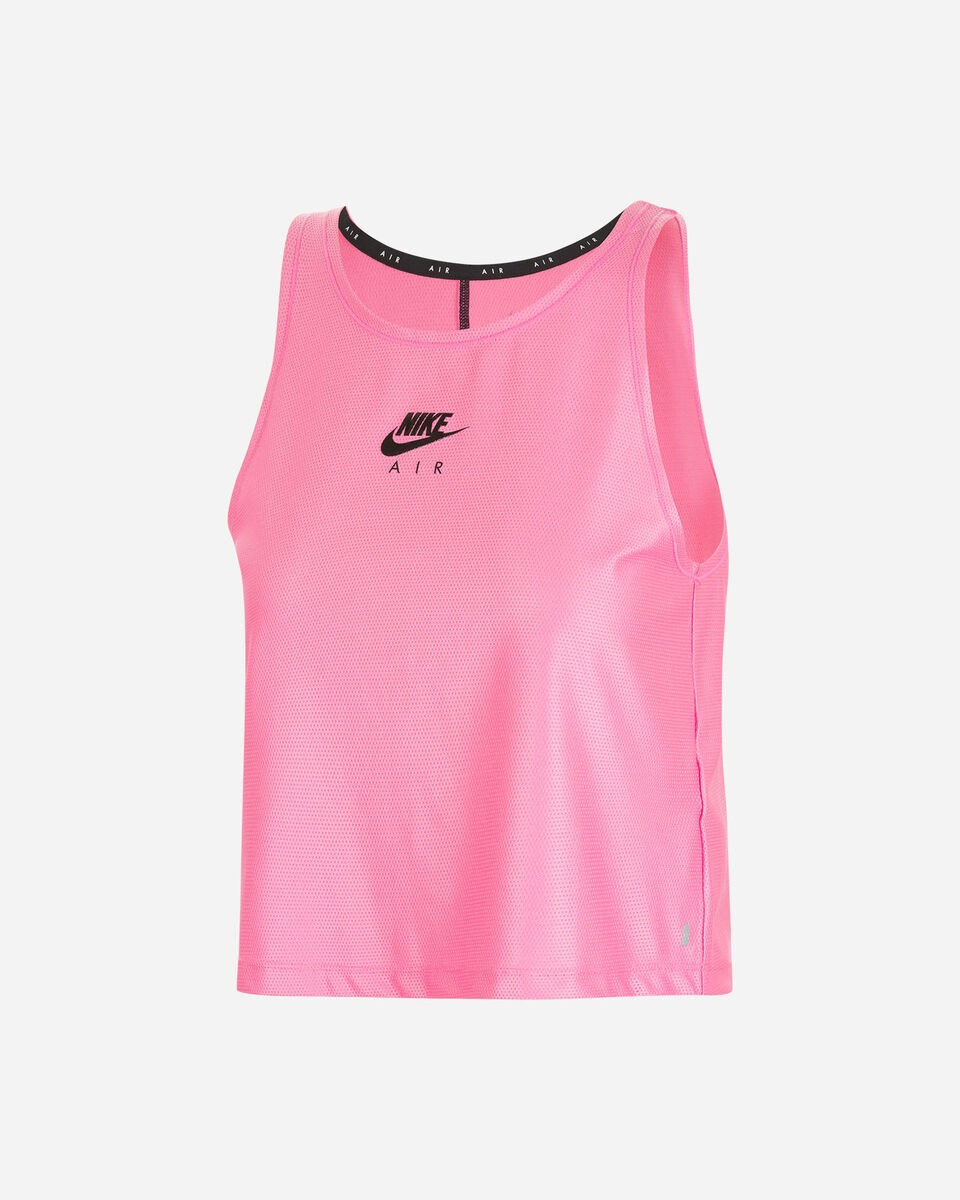 Canotta running NIKE AIR TANK ROSA W S5225296 scatto 0