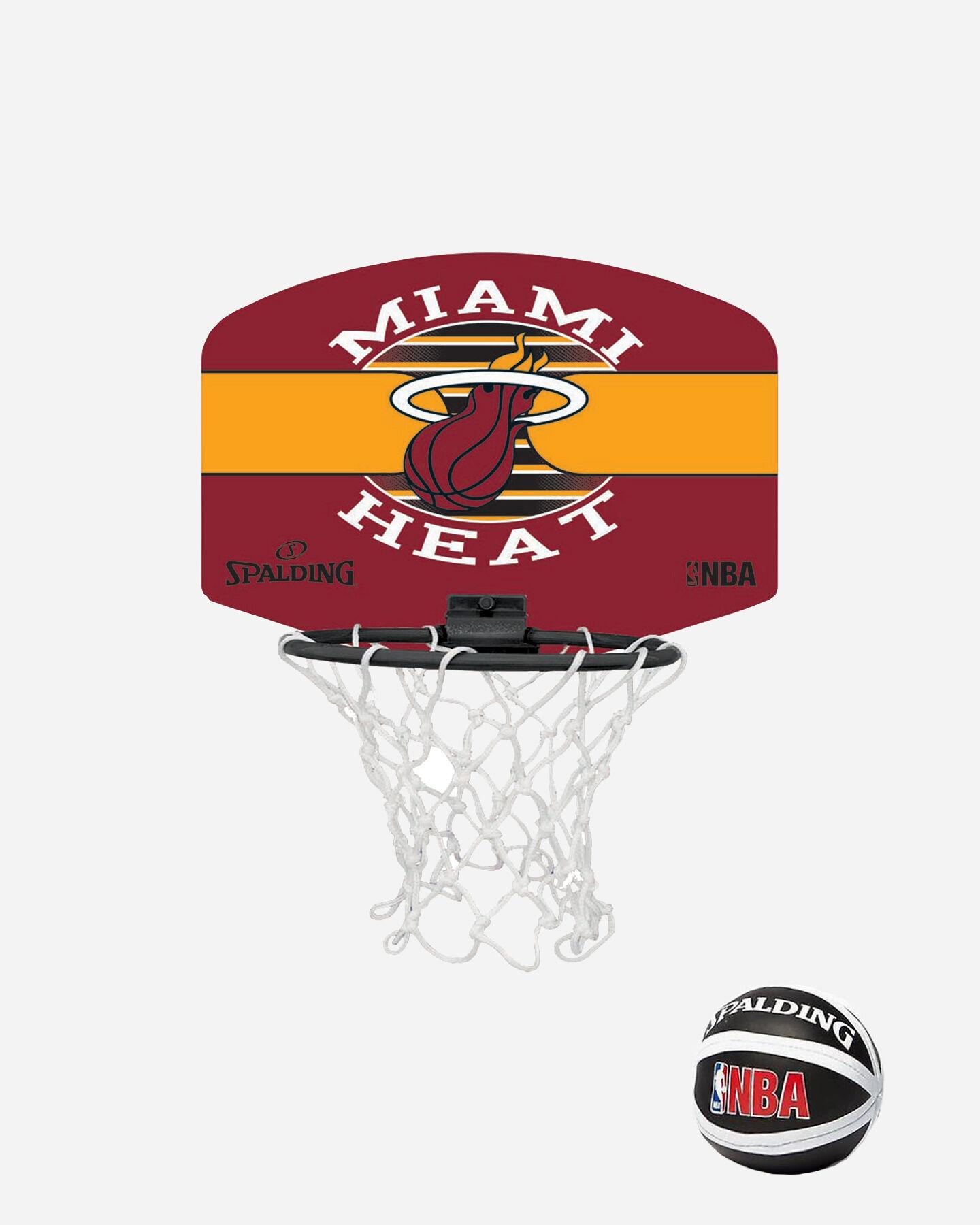 Canestro tabellone basket SPALDING NBA MINIBOARD MIAMI HEAT S1317875|9999|UNI scatto 0