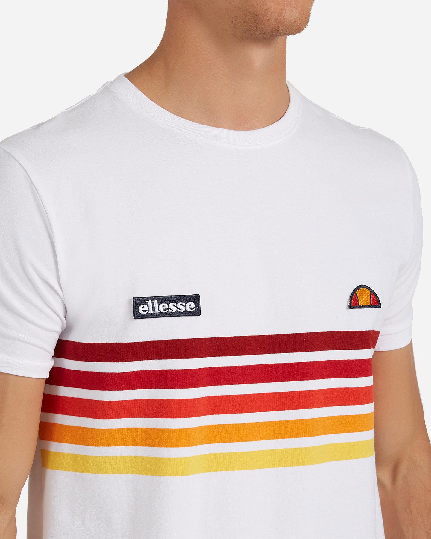 T-Shirt ELLESSE RAINBOW STRIPES M S4073850 scatto 4