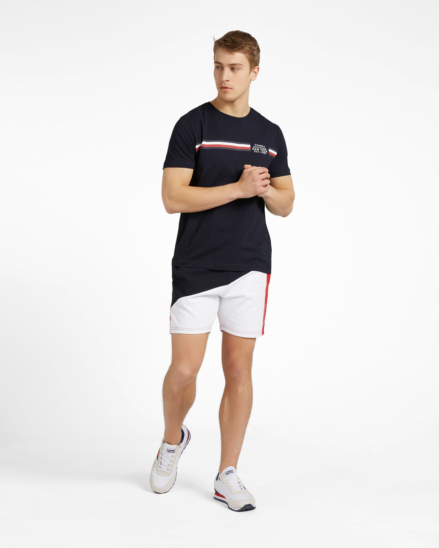 T-Shirt TOMMY HILFIGER CORP SPLIT M S4089501 scatto 1