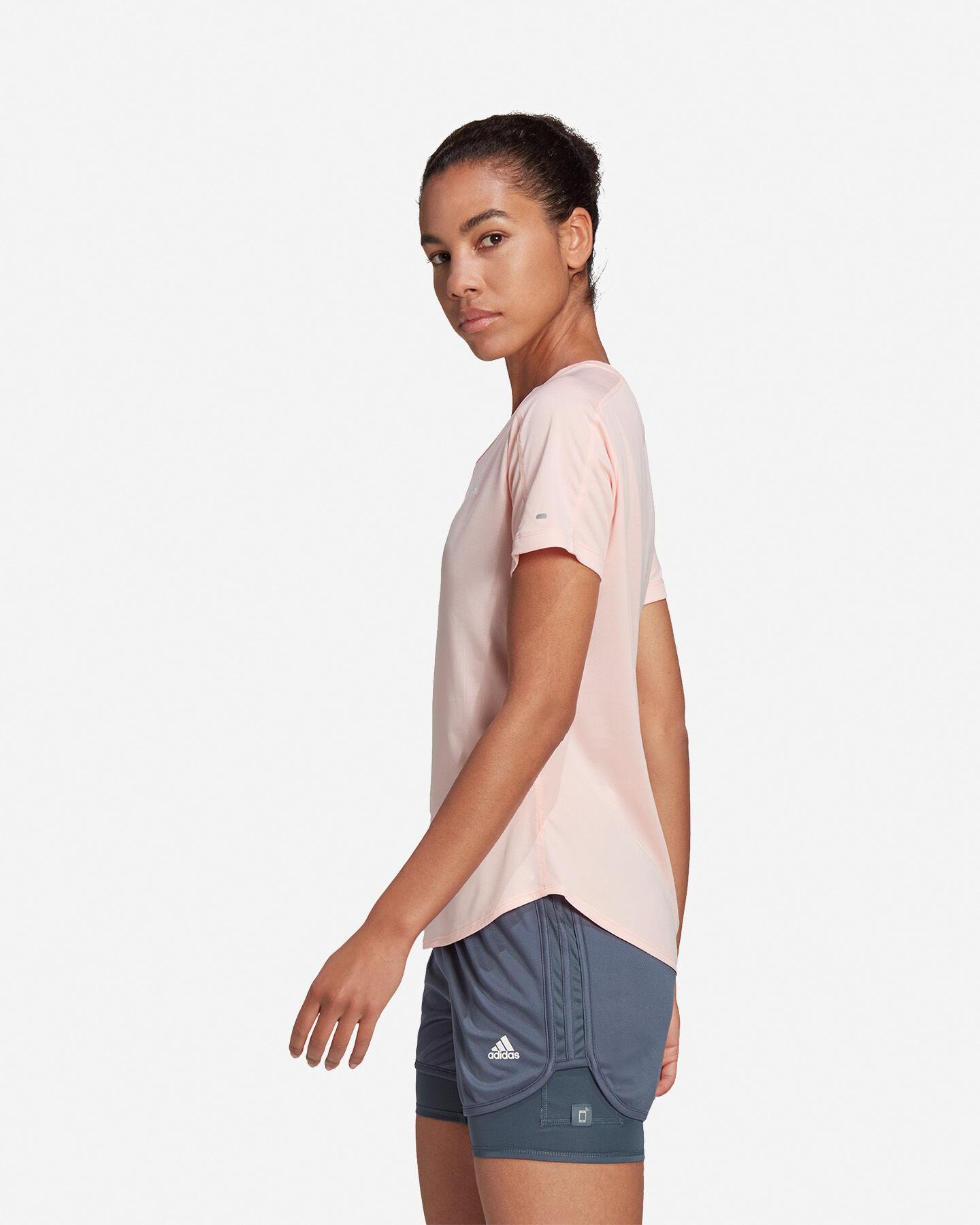T-Shirt running ADIDAS RUN IT 3 STRIPES W S5210001 scatto 3