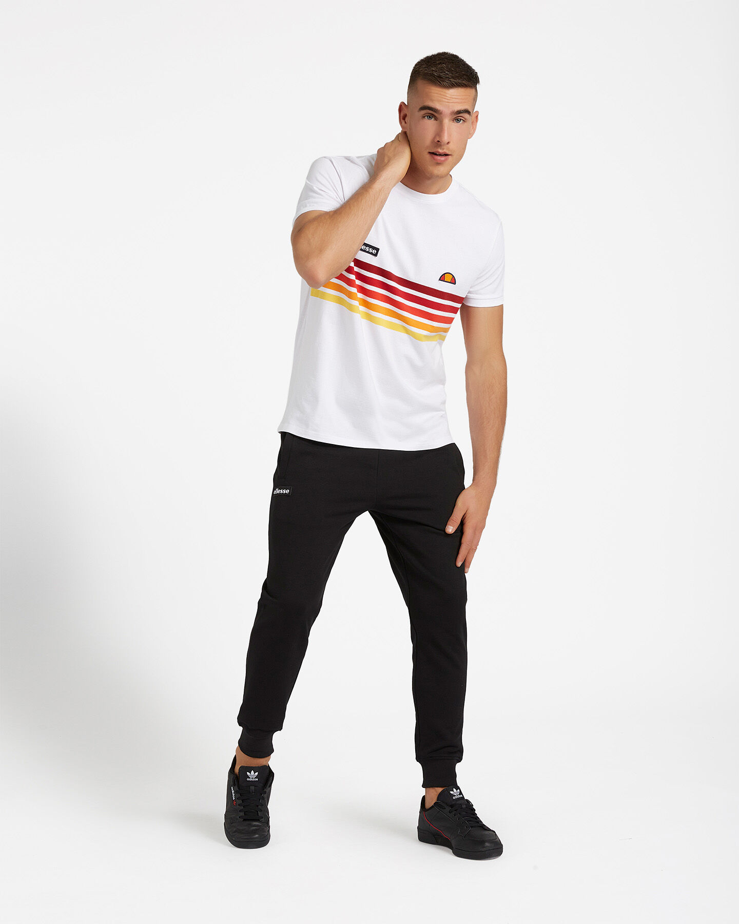 T-Shirt ELLESSE RAINBOW STRIPES M S4073850 scatto 1