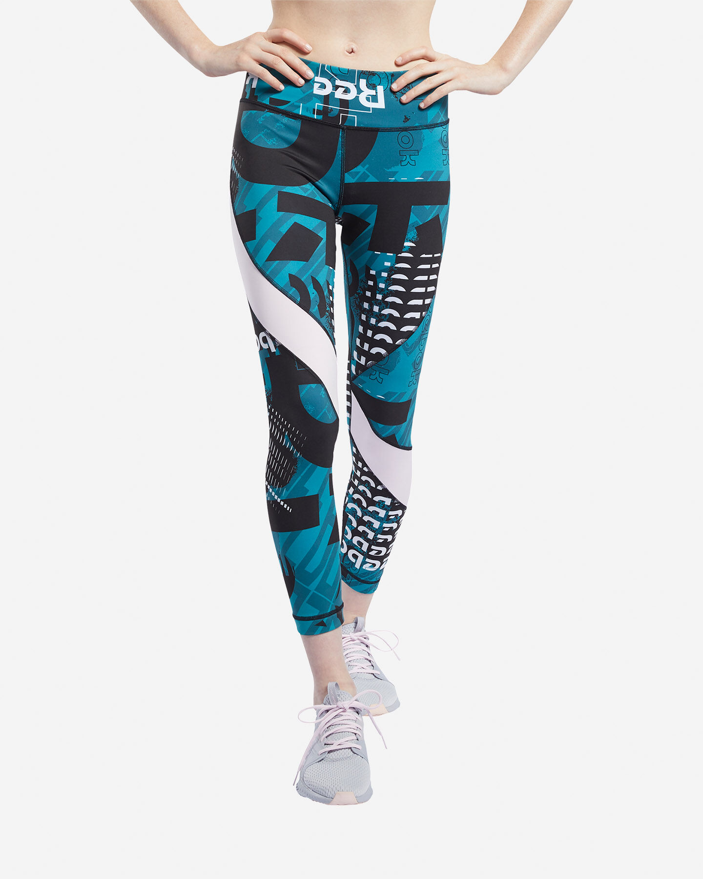 Leggings REEBOK MEET YOU THERE ALLOVER PRINT 7/8 W S5144857 scatto 2