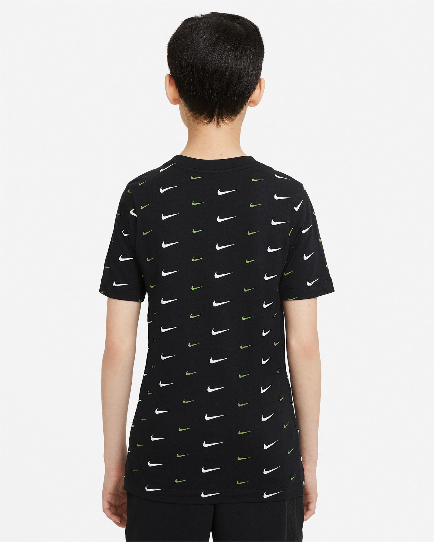 T-Shirt NIKE AOP SWOOSH JR S5270259 scatto 1