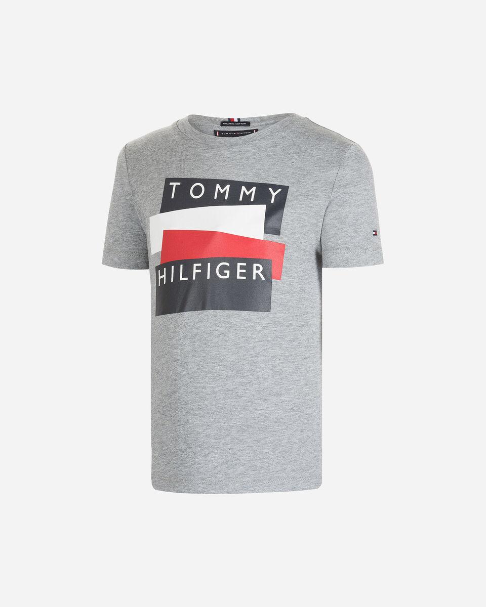 T-Shirt TOMMY HILFIGER LOGO STICKER JR S4083621 scatto 0