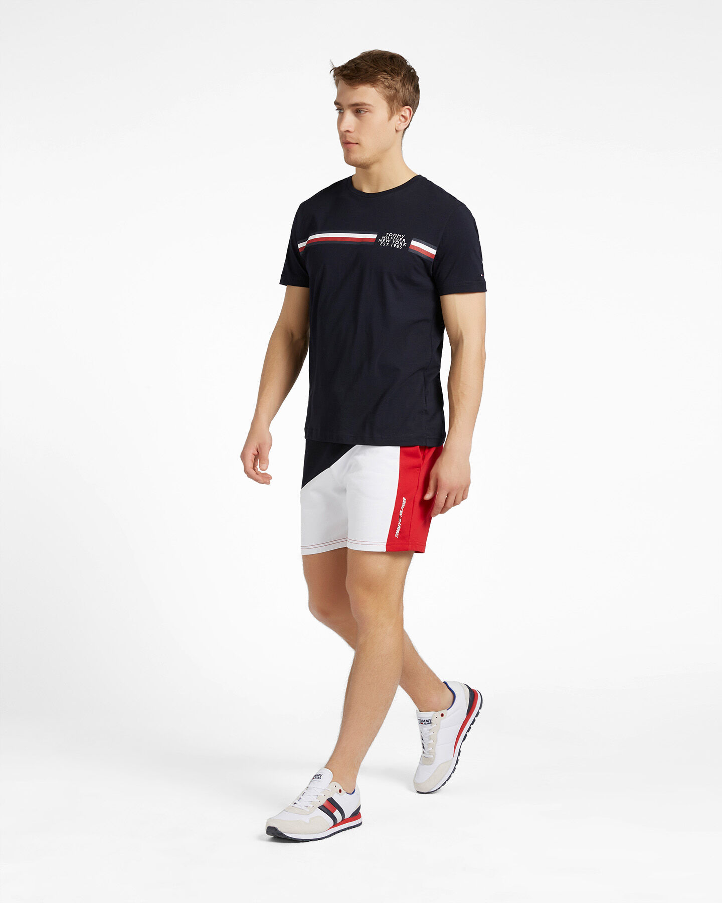 T-Shirt TOMMY HILFIGER CORP SPLIT M S4089501 scatto 3