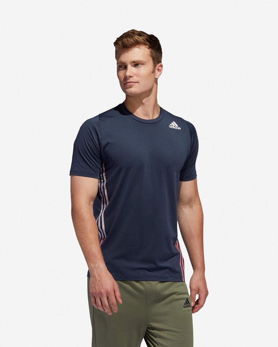 T-Shirt training ADIDAS FREELIFT 3-STRIPES M S5154666 scatto 2