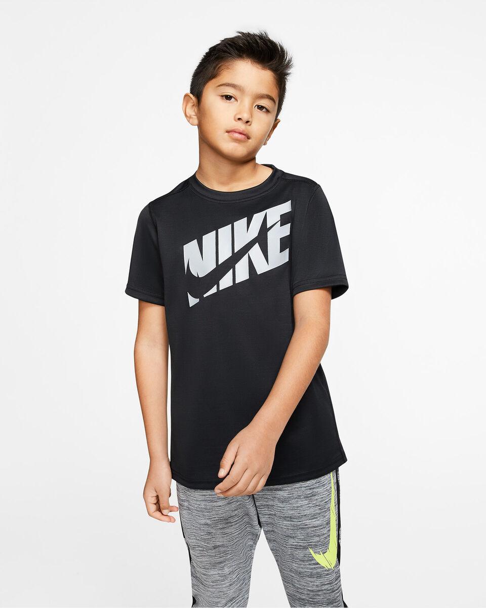 T-Shirt NIKE DRI-FIT SWOOSH JR S5164546 scatto 2