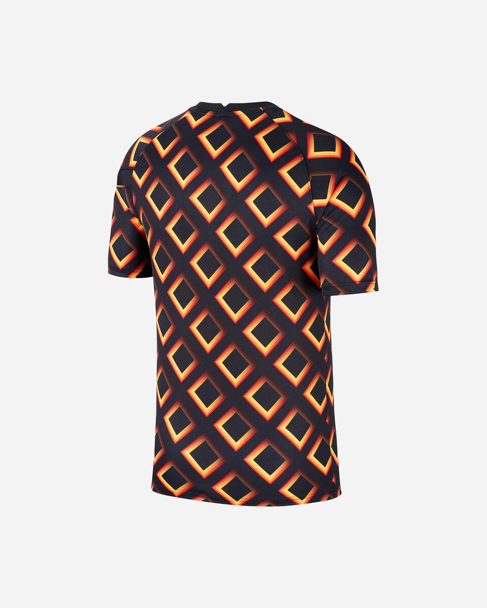 Abbigliamento calcio NIKE AS ROMA PREMATCH 20-21 M S5195542 scatto 1