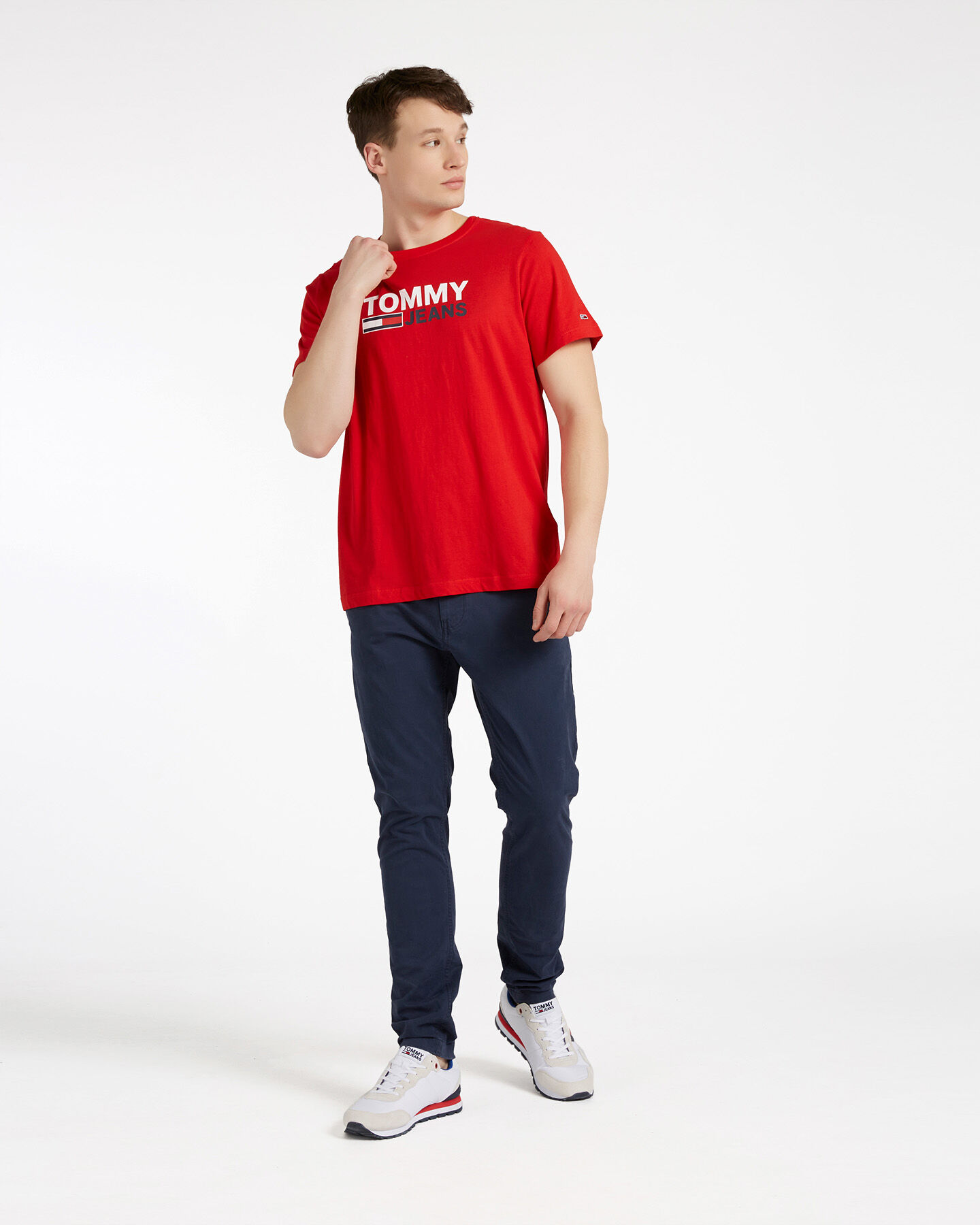 T-Shirt TOMMY HILFIGER CORP LOGO M S4088732 scatto 1