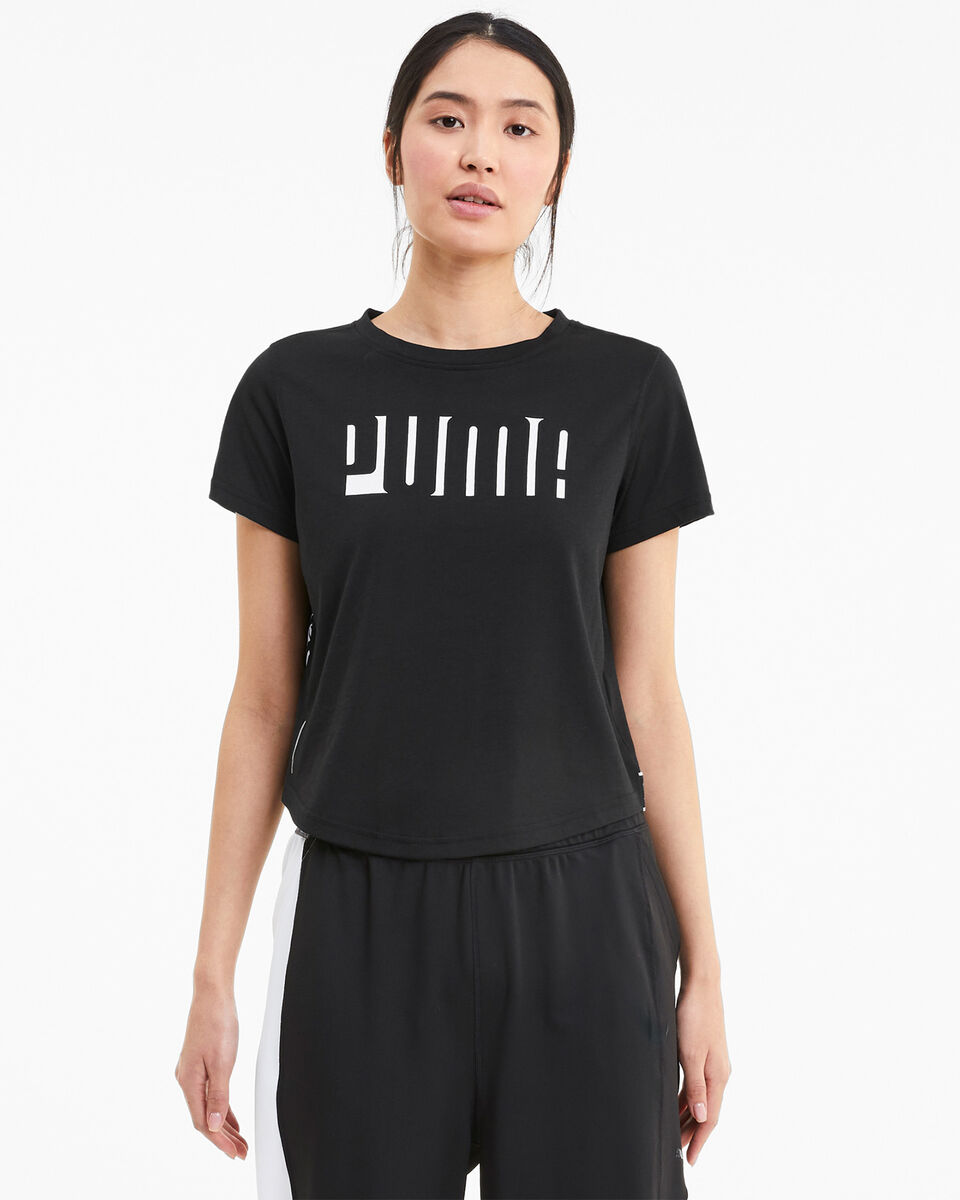 T-Shirt training PUMA DRIFIT CROP LOGO W S5234811 scatto 2